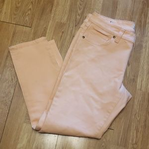 Cabi Bree jeans style 329 Creamsicle Crop Skinny